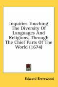 Inquiries Touching the Diversity of Languages and Religions, Through the Chief Parts of the World (1674)