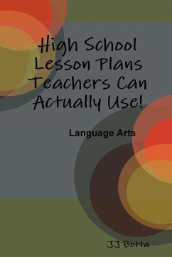 High School Lesson Plans Teachers Can Actually Use! - Botta, Jj