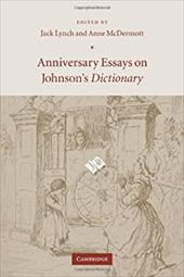 Anniversary Essays on Johnson's Dictionary - Lynch, Jack / McDermott, Anne