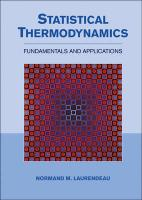 Statistical Thermodynamics: Fundamentals and Applications