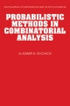 Probabilistic Methods in Combinatorial Analysis - Vladimir N. Sachkov