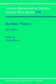 Number Theory - Sinnou David