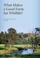 What Makes a Good Farm for Wildlife?