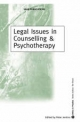 Legal Issues in Counselling and Psychotherapy - Peter Jenkins