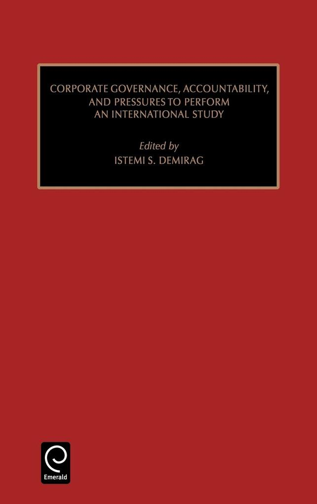 Studies in Managerial and Financial Accounting als Buch von Demirag Istemic Demirag, Istemi Demirag, Marc J. Epstein - Emerald Group Publishing Limited
