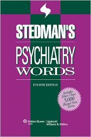 Stedman's Psychiatry Words - Stedman's