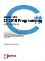 C# 2010 Programming and PC Interfacing