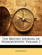 The British Journal of Homoeopathy, Volume 3