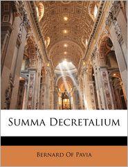 Summa Decretalium - Bernard Of Pavia