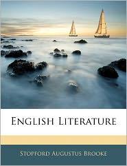 English Literature - Stopford Augustus Brooke