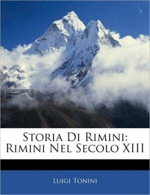 Storia Di Rimini - Luigi Tonini