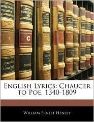 English Lyrics - William Ernest Henley