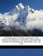 A Fortnight's Tour Amongst the Arabs on Mount Lebanon, Including a Visit to Damascus, Ba'albek, Etc., by C.G.