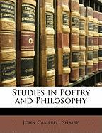 Studies in Poetry and Philosophy