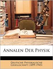 Annalen Der Physik - Created by Deutsche Physikalische Gesellschaft (189