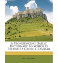 A Pronouncing Gaelic Dictionary. to Which Is Prefixed a Gaelic Grammar - Neil McAlpine