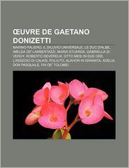 Uvre De Gaetano Donizetti - Source Wikipedia, Livres Groupe (Editor)
