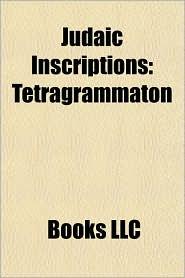 Judaic Inscriptions: Tetragrammaton