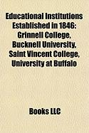 Educational Institutions Established in 1846: University at Buffalo, the State University of New York