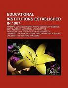 Educational institutions established in 1907