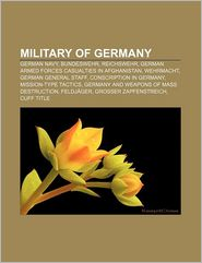 Military Of Germany - Books Llc