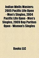Indian Wells Masters: 2005 Pacific Life Open - Men's Singles, 2004 Pacific Life Open - Men's Singles, 2009 Bnp Paribas Open - Women's Single