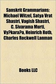 Sanskrit Grammarians - Books Llc