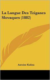 La Langue Des Tziganes Slovaques (1882) - Antoine Kalina