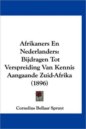 Afrikaners En Nederlanders