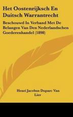 Het Oostenrijksch En Duitsch Warrantrecht - Henri Jacobus Duparc Van Lier
