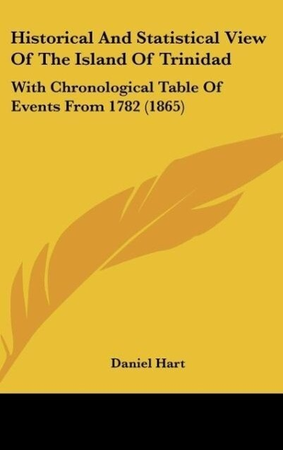 Historical And Statistical View Of The Island Of Trinidad als Buch von Daniel Hart - Kessinger Publishing, LLC
