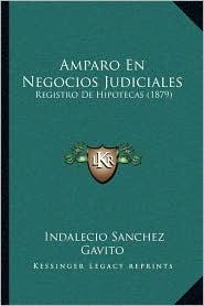 Amparo En Negocios Judiciales: Registro De Hipotecas (1879) - Indalecio Sanchez Gavito