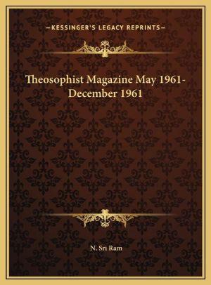 Theosophist Magazine May 1961-December 1961