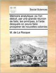 M Moire Analytique - M. De La Rocque