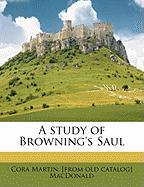 A Study of Browning's Saul