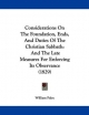 Considerations on the Foundation, Ends, and Duties of the Christian Sabbath - William Paley