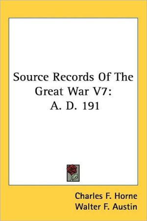 Source Records of the Great War V7: A.D. 191
