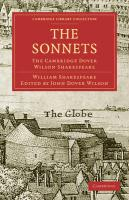 The Sonnets: The Cambridge Dover Wilson Shakespeare (Cambridge Library Collection - Literary  Studies)