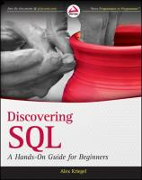 Discovering SQL: A Hands-On Guide for Beginners