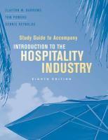 Introduction to the Hospitality Industry, Study Guide