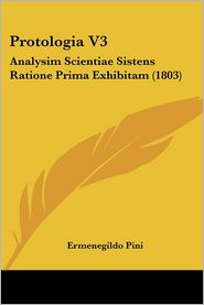 Protologia V3 - Ermenegildo Pini