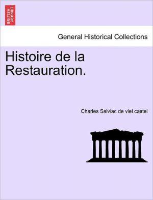 Histoire De La Restauration.
