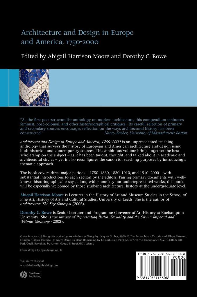 Architecture and Design in Europe als Buch von Harrison-Moore, Rowe DC - John Wiley & Sons