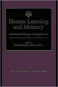 Human Learning and Memory - Edited by Chizuko Izawa, Nobou Ohta