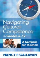 Navigating Cultural Competence in Grades 6-12: A Compass for Teachers