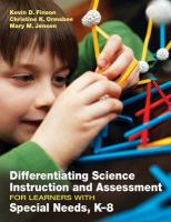 Differentiating Science Instruction and Assessment for Learners with Special Needs, K-8