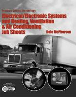 Modern Diesel Technology: Electrical/Electronic Systems and Heating, Ventilation, Air Conditioning Systems Job Sheets