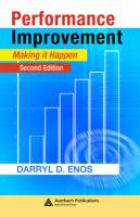 Performance Improvement: Making It Happen, Second Edition