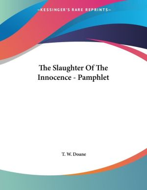 Slaughter of the Innocence - Pamphlet