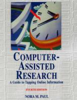 Computer-Assisted Research, 4th Ed.
